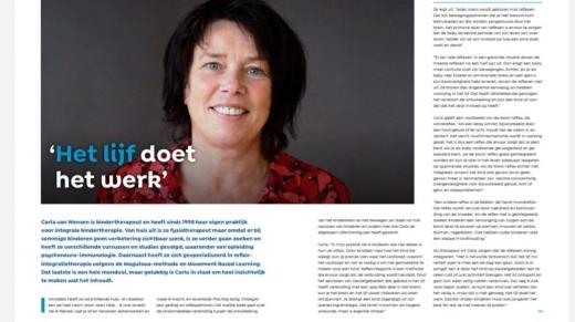 artikel adoptiemagazine Het lijf doet het werk met Carla van Wensen