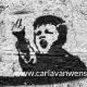 graffiti van een boos kind op een muur