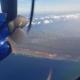 uitzicht vanuit het vliegtuig op aruba